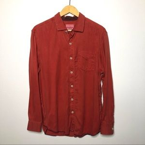 Tommy Bahama Red Long Sleeve Button Down Shirt L